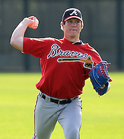 13 March 2009: RHP Craig Kimbrel of the Atlanta Braves at Spring Training camp at Disney's Wide World of Sports in Lake Buena Vista, Fla. Photo by:  Tom Priddy/Four Seam Images