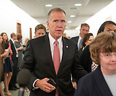 United States Senator Thom Tillis (Republican of North Carolina) arrives to hear the testimony of Dr. Christine Blasey Ford  before the US Senate Committee on the Judiciary on the nomination of Judge Brett Kavanaugh to be Associate Justice of the US Supreme Court to replace the retiring Justice Anthony Kennedy on Capitol Hill in Washington, DC on Thursday, September 27, 2018.<br /> Credit: Ron Sachs / CNP<br /> (RESTRICTION: NO New York or New Jersey Newspapers or newspapers within a 75 mile radius of New York City)