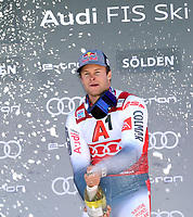 27th October 2019; Soelden, Austria; Mens FIS World Cup skiing, giant slalom;   Mens World Cup Giant Slalom Ski Opening event Alexis Pinturault FRA