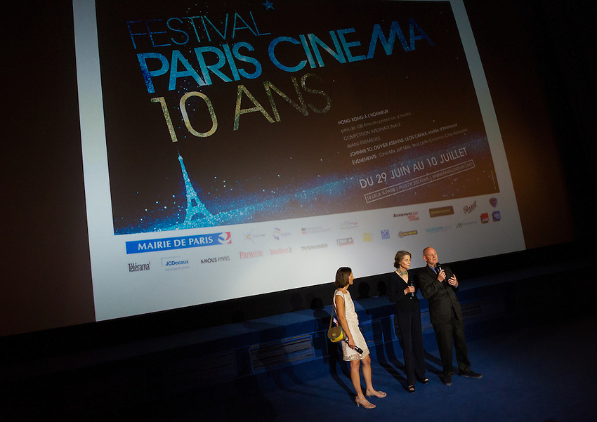 The opening night of Festival Paris Cinema 2012, involving the first film, Holy Motors, at the Gaumont Opera, and a reception at the Hotel de Ville, guests including Festival President Charlotte Rampling, and Kylie Minogue. Thursday 28th June 2012.