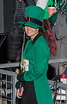 Leprechaun Caitlin Howden before the start of the 7th annual Leprechaun Race in downtown Reno, Nevada on Sunday, March 17, 2019.