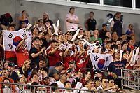CHARLOTTE, NC - OCTOBER 3: Korea Republic fans during a game between Korea Republic and USWNT at Bank of America Stadium on October 3, 2019 in Charlotte, North Carolina.