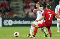 Karol Linetty of Poland and James Ward-Prowse of England during England Under-21 vs Poland Under-21, UEFA European Under-21 Championship Football at The Kolporter Arena on 22nd June 2017