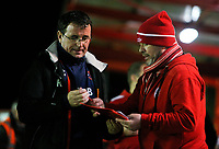 Blackpool manager Gary Bowyer signs an autograph before the match <br /> <br /> Photographer Alex Dodd/CameraSport<br /> <br /> EFL Checkatrade Trophy - Northern Section Group B - Accrington Stanley v Blackpool - Tuesday 3rd October 2017 - Crown Ground - Accrington<br />  <br /> World Copyright &copy; 2018 CameraSport. All rights reserved. 43 Linden Ave. Countesthorpe. Leicester. England. LE8 5PG - Tel: +44 (0) 116 277 4147 - admin@camerasport.com - www.camerasport.com