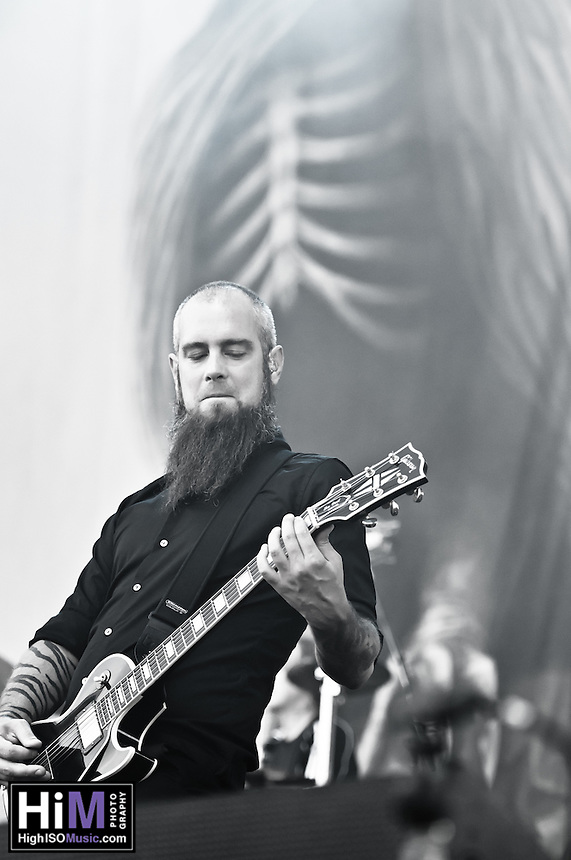 In Flames performing at Heavy MTL 2011 in Montreal, QC.