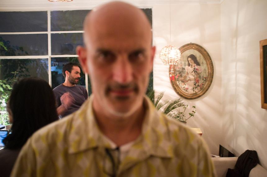 Kurt Hollander. Karin's birthday party.  Mexico City