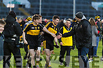 David O'Leary, Kieran O'Leary Dr. Crokes players and supporters celebrate defeating Corofin in the Semi Final of the Senior Football Club Championship at the Gaelic Grounds, Limerick on Saturday.