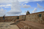 "Fort San Felipe del Morro --or El Castillo San Felipe del Morro in Spanish-- is a sixteenth-century citadel which lies on the northwestern-most point of the islet of San Juan, Puerto Rico. Named in honor of King Philip II of Spain, the fort, also referred to as ""El Morro"" or ""promontory"", was designed to guard the entrance to San Juan bay, and defend the city of San Juan from seaborne enemies..In 1983, the fort was declared a World Heritage Site by the United Nations and is part of San Juan National Historic Site. Over two million visitors a year explore the windswept ramparts and passageways making the fort one of Puerto Rico's main visitor attractions..."