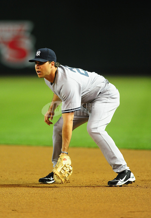 Jun. 21, 2010; Phoenix, AZ, USA; New York Yankees first baseman Mark Teixeira against the Arizona Diamondbacks at Chase Field. The Diamondbacks defeated the Yankees 10-4. Mandatory Credit: Mark J. Rebilas-