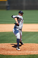 Detroit Tigers pitcher Eudis Idrogo (26) during a Minor League Spring Training game against the New York Yankees on March 21, 2018 at the New York Yankees Minor League Complex in Tampa, Florida.  (Mike Janes/Four Seam Images)