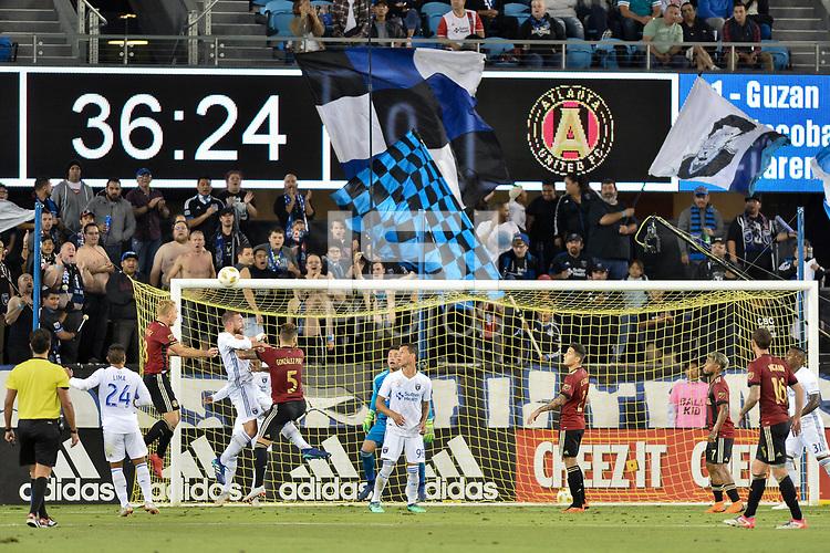 San Jose, CA - Wednesday September 19, 2018: Guram Kashia during a Major League Soccer (MLS) match between the San Jose Earthquakes and Atlanta United FC at Avaya Stadium.
