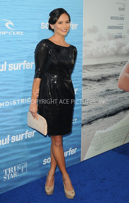 WWW.ACEPIXS.COM . . . . . ....March 30 2011, Los Angeles....Actress Sonya Balmores Chung arriving at the premiere of TriStar Pictures' 'Soul Surfer' at the ArcLight Cinerama Dome on March 30, 2011 in Hollywood, California.....Please byline: PETER WEST - ACEPIXS.COM....Ace Pictures, Inc:  ..(212) 243-8787 or (646) 679 0430..e-mail: picturedesk@acepixs.com..web: http://www.acepixs.com