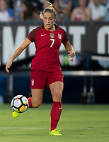 Carson, CA - Thursday August 03, 2017: Abby Dahlkemper during a 2017 Tournament of Nations match between the women's national teams of the United States (USA) and Japan (JAP) at StubHub Center.
