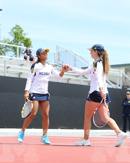 The University of Michigan women's tennis team finished in second place, after a 4-3 loss to Purdue, in the 2012 Big Ten Tournament in Columbus, Ohio, on April 29, 2012.