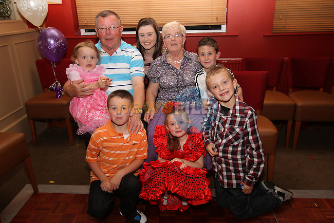 Anne and Noel Black with all their grandchildren at Fiona Black's 40th in Harrys...Picture Jenny Matthews/Newsfile.ie