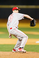 North Carolina State Wolfpack relief pitcher Will Gilbert (27) in action against the Wake Forest Demon Deacons at Wake Forest Baseball Park on March 15, 2013 in Winston-Salem, North Carolina.  The Wolfpack defeated the Demon Deacons 12-6.  (Brian Westerholt/Four Seam Images)