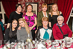 Enjoying a friends night out on Saturday night last at Cassidy's restaurant, Tralee were front l-r: Catherine O'Connor, Julie O'Connor Julianne O'Connor and Dan Spillane. Back l-r: Eilish Moynihan, Margaret Coakley, Sheila McSweeney and Linda O'Connor, all from Scartaglin