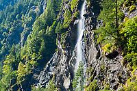 Waterfall, Capanna Soveltra, Val Verzasca, Ticino, Switzerland, September 2013.