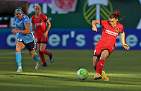 Portland, OR - Saturday July 02, 2016: Hayley Raso during a regular season National Women's Soccer League (NWSL) match between the Portland Thorns FC and Sky Blue FC at Providence Park.