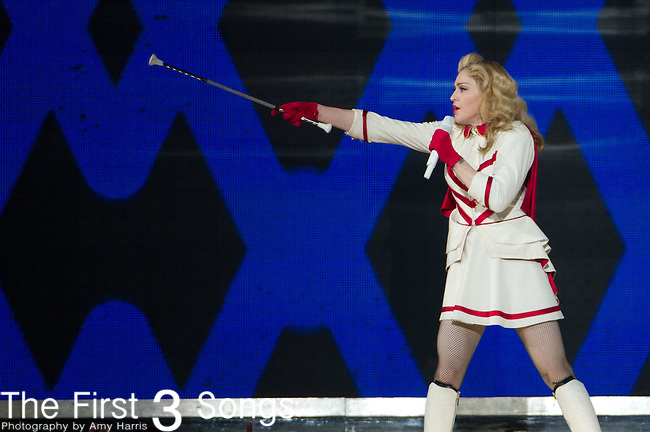 Madonna performs at the Quicken Loans Arena in Cleveland, Ohio.