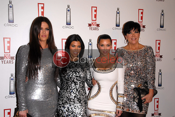 Khloe Kardashian, Kourtney Kardashian, Kimberly Kardashian and Chris Kardashian<br />
