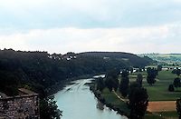 Bad Wimpfen: View of Neckar River from castle. Photo '87.
