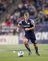 New England Revolution midfielder Jason Griffiths (16) brings the ball forward. The New England Revolution defeated Kansas City Wizards, 1-0, at Gillette Stadium on October 16, 2010.