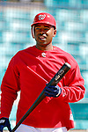 15 March 2006: Michael Tucker, outfielder for the Washington Nationals, prepares for batting practice prior to a Spring Training game against the New York Mets. The Mets defeated the Nationals 8-5 at Space Coast Stadium, in Viera, Florida...Mandatory Photo Credit: Ed Wolfstein..