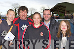 Lacey, Liam, Josie Kerins, Jer McAulliffe and Patricia Kerins Castleisland enjoying themselves at the Castleisland Coursing Meeting in Cahill Park, Castleisland on Monday