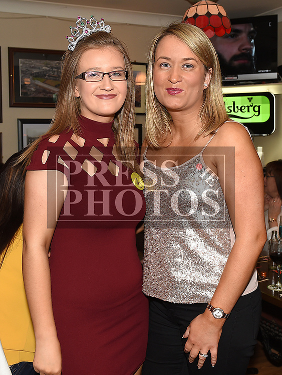 Caoimhe Connor celebrating her 18th birthday with her mam Deborah Mullan in the Railway Arms. Photo:Colin Bell/pressphotos.ie