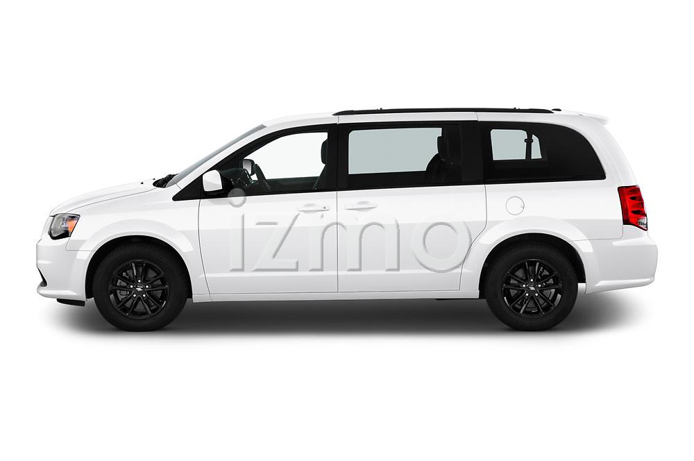 Car Driver side profile view of a 2019 Dodge Grand-Caravan GT 5 Door Minivan Side View