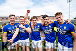 James Walsh, Conor Cox, Tomás Ó Sé, Jeff O'Donoghue and Eamonn Kiely Kerry players celebrate their victory over Meath in the All Ireland Junior Football Final at O'Moore Park, Portlaoise on Saturday.