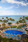 The Kahala Resort and Hotel, located in Honolulu on the souths side of Diamond Head, offers luxurious accommodations and is the only hotel in Oahu with a dolphin program.  The oceanfront swimming pool.