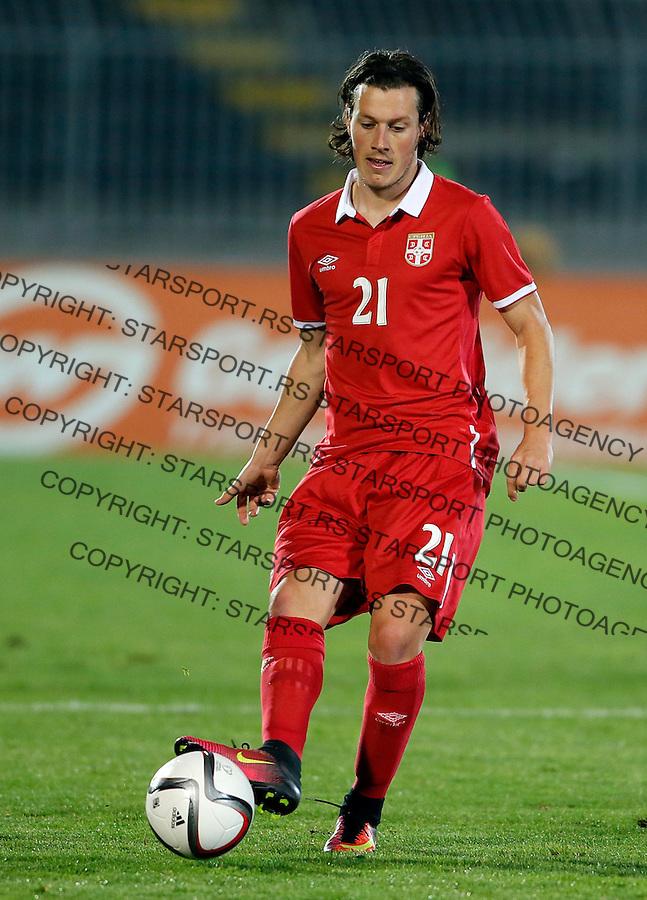 Nikola Ninkovic Reprezentacija, U21 Srbija - Norveska , baraz 11.11.2016. Beograd Srbija kvalifikacije  Serbia - Norway (credit image & photo: Pedja Milosavljevic / STARSPORT)