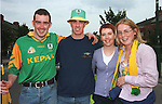 Christie McFadden, Nial Craven, Michelle Branigan and Lisa Munster at the Meath V Kildare Leinster Senior Final in Croke Park..Picture: Fran Caffrey / Newsfile