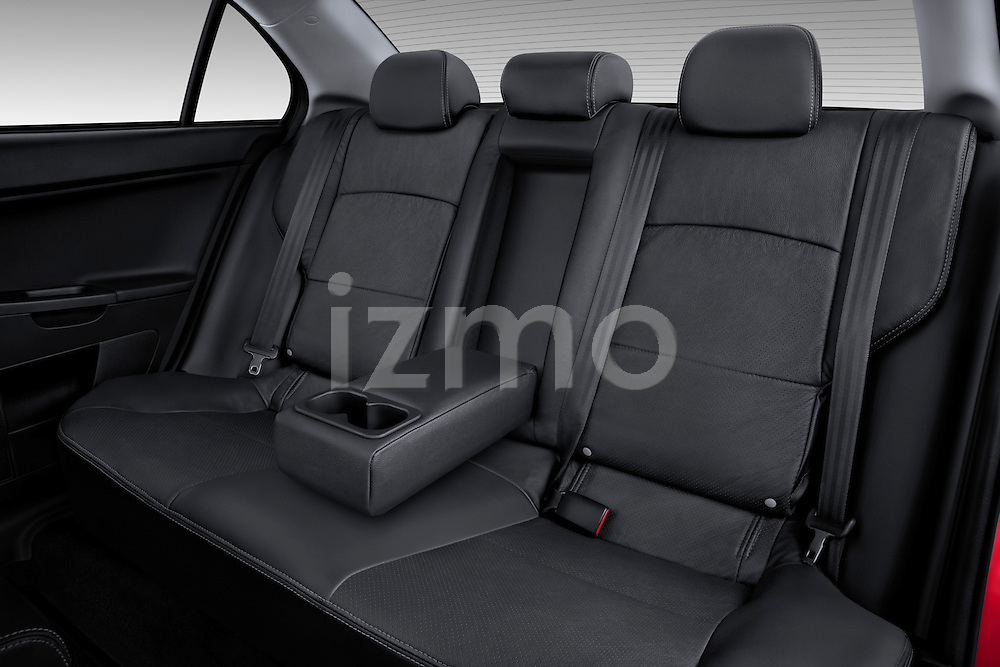 Rear seats inside a 2012 Mitsubishi Lancer GT Touring