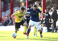 Ben Thompson of Millwall shields the ball from Brentford's Henrik Dalsgaard during Brentford vs Millwall, Sky Bet EFL Championship Football at Griffin Park on 19th October 2019