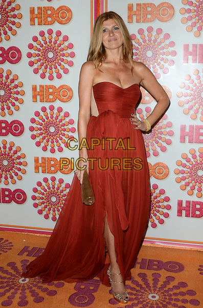 Connie Britton.HBO's Official Emmy After Party  held at Pacific Design Center, Los Angeles, California, USA..September 18th, 2011.full length red strapless dress hand on hip.CAP/ADM/TW.©Tonya Wise/AdMedia/Capital Pictures.
