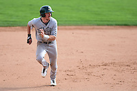 Beloit Snappers outfielder Justin Higley (25) running the bases during a game against the Clinton LumberKings on August 17, 2014 at Ashford University Field in Clinton, Iowa.  Clinton defeated Beloit 4-3.  (Mike Janes/Four Seam Images)