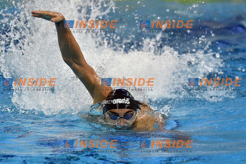 Filippo MAGNINI ITA Men's 4x50 Freestyle Relay <br /> Doha Qatar 06-12-2014 Hamad Aquatic Centre, 12th FINA World Swimming Championships (25m). Nuoto Campionati mondiali di nuoto in vasca corta.<br /> Photo Andrea Staccioli/Deepbluemedia/Insidefoto