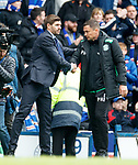05.05.2019 Rangers v Hibs: Steven Gerrard and Paul Heckingbottom