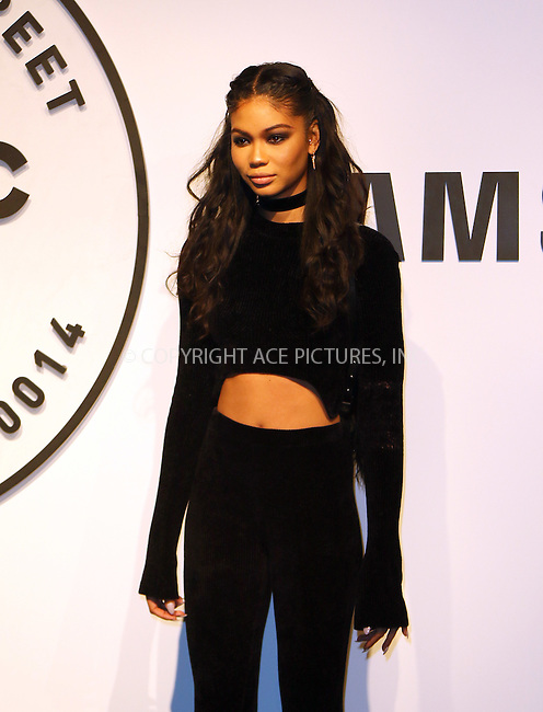 WWW.ACEPIXS.COM<br /> <br /> February 22 2016, New York City<br /> <br /> Model Chanel Iman at a Sumsung Store event in the Meatpacking District on February 22 2016 in New York City<br /> <br /> By Line: Zelig Shaul/ACE Pictures<br /> <br /> <br /> ACE Pictures, Inc.<br /> tel: 646 769 0430<br /> Email: info@acepixs.com<br /> www.acepixs.com