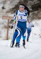 Palmer High School senior Grace Miller races in the 5K classic event at the GPRA Invite on Saturday, January 13, 2018. Miller will complete as part of the U.S. nordic and biathlon Paralympics team in South Korea in March. (Photo by Stephen Nowers)