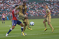 Philadelphia Union forward Danny Mwanga (10) traps the ball. The Philadelphia Union and CD Chivas USA played to 1-1 draw at Home Depot Center stadium in Carson, California on Saturday evening July 3, 2010..