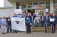 Disabled People Against Cuts for The Atos Games Birmingham protest: Tuesday 28th August.Midlands DBC, Five Ways Complex, Islington Row, Edgbaston, Birmingham, B15 1SL