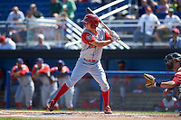 Williamsport Crosscutters outfielder Zachary Coppola (11) at bat during a game against the Batavia Muckdogs on July 16, 2015 at Dwyer Stadium in Batavia, New York.  Batavia defeated Williamsport 4-2.  (Mike Janes/Four Seam Images)