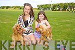 Jane Buttimer, Caoimhe Lyons with Lily and Poppy enjoying the Camp Cash Cow family fun Day on Sunday