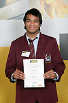 Boys Rugby Union winner Fa'atiga Lemalu. ASB College Sport Young Sportperson of the Year Awards 2007 held at Eden Park on November 15th, 2007.