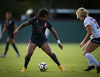 STANFORD, CA - August 10, 2018: Madison Haley at Laird Q. Cagan Stadium. The Stanford Cardinal defeated the Fresno State Bulldogs 4-0.