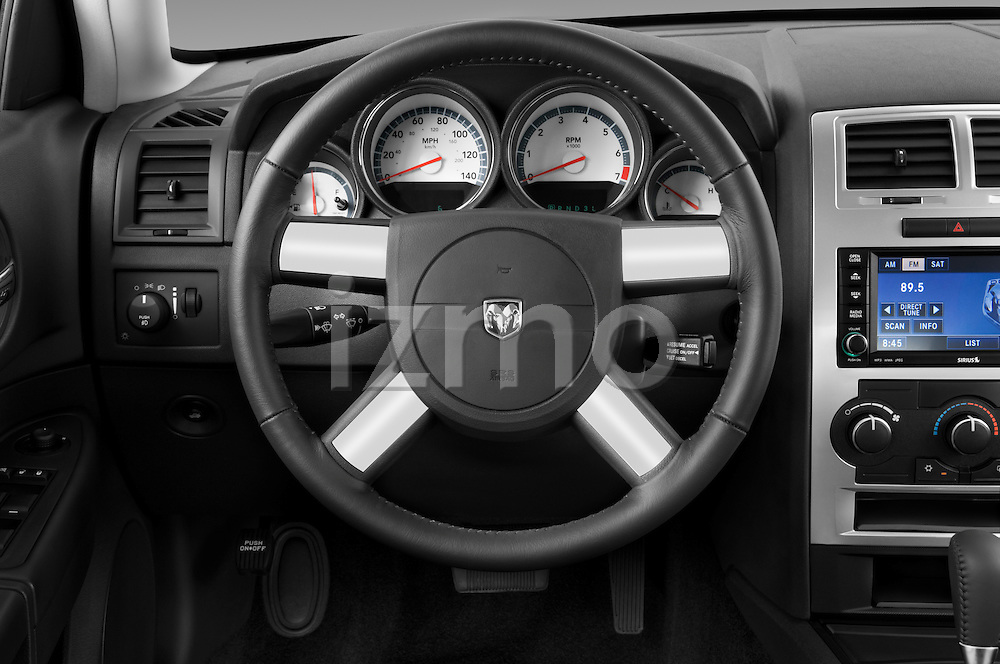 Steering wheel view of a 2008 Dodge Charger Dub
